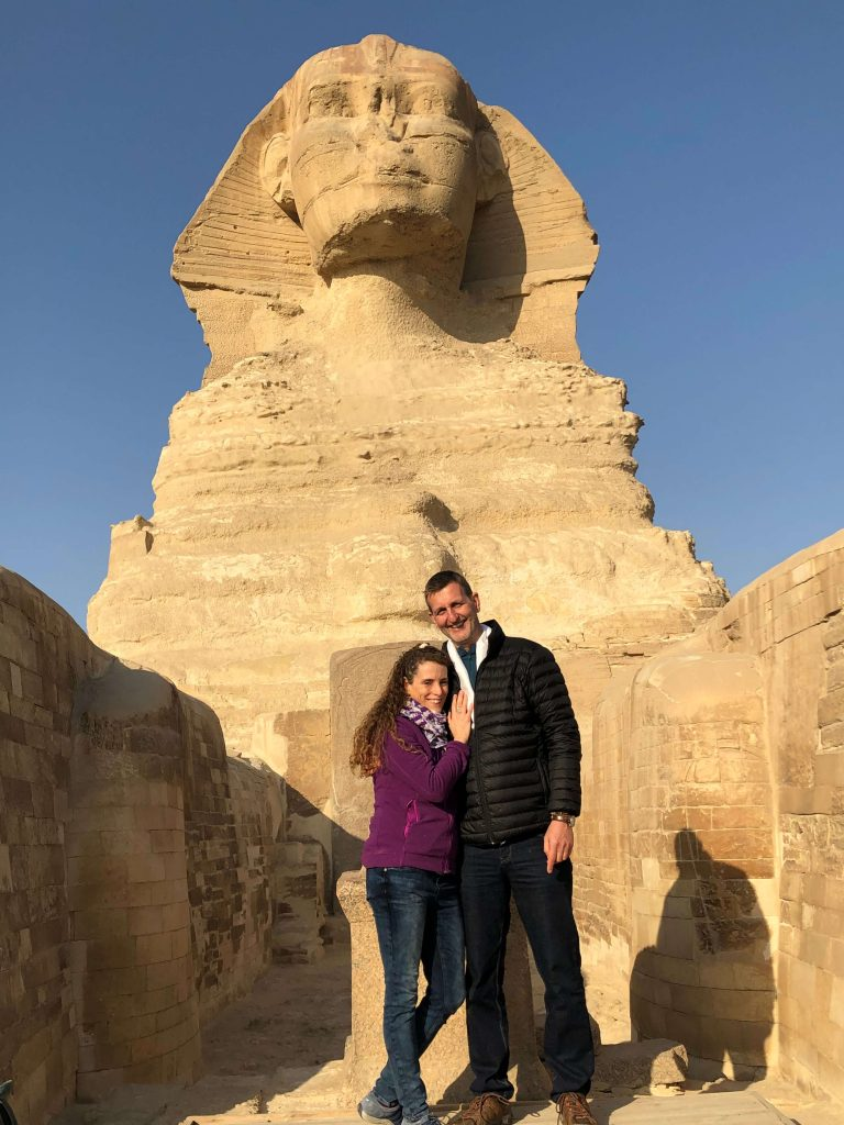 Dr. Friedemann and Danielle with the Sphinx